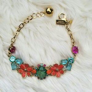 Kate Spade bracelet gold, orange flowers, gems
